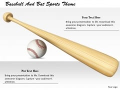 Stock Photo Business Management Strategy Baseball And Bat Sports Theme Stock Images