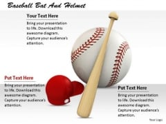 Stock Photo Business Management Strategy Baseball Bat And Helmet Stock Images