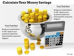 Stock Photo Business Management Strategy Calculate Your Money Savings Image