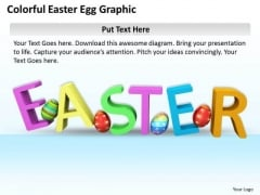 Stock Photo Business Management Strategy Colorful Easter Egg Graphic Image