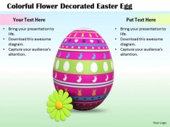 Stock Photo Business Management Strategy Colorful Flower Decorated Easter Egg Image