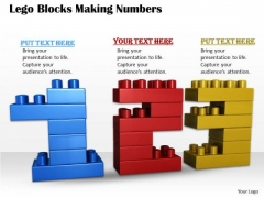 Stock Photo Business Management Strategy Lego Blocks Making Numbers Pictures