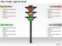 Stock Photo Business Management Strategy Obey Traffic Light On Road Pictures Images