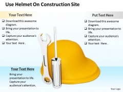 Stock Photo Business Management Strategy Use Helmet On Construction Site Photos