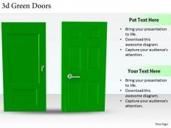 Stock Photo Business Marketing Strategy 3d Green Doors Stock Photo Photos