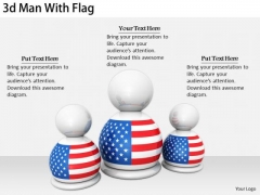 Stock Photo Business Marketing Strategy 3d Man With Flag Stock Photo Photos