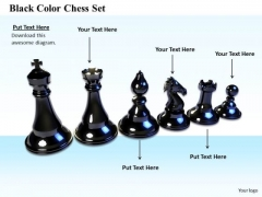 Stock Photo Business Marketing Strategy Black Color Chess Set Icons