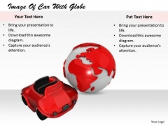 Stock Photo Business Marketing Strategy Image Of Car With Globe Stock Photos