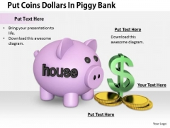 Stock Photo Business Marketing Strategy Put Coins Dollars Piggy Bank Images And Graphics