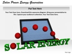 Stock Photo Business Marketing Strategy Solar Power Energy Generation Icons