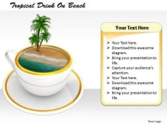 Stock Photo Business Marketing Strategy Tropical Drink On Beach Photos