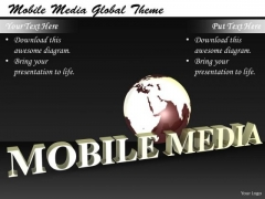 Stock Photo Business Model Strategy Mobile Media Global Theme Clipart