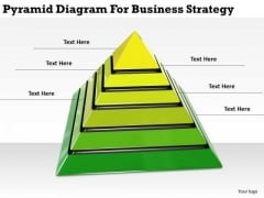 Stock Photo Business Model Strategy Pyramid Diagram For Stock Images