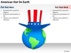 Stock Photo Business Plan And Strategy American Hat On Earth Icons Images