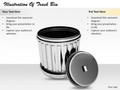 Stock Photo Business Plan And Strategy Illustration Of Trash Bin Stock Images