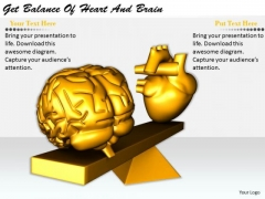 Stock Photo Business Plan Strategy Get Balance Of Heart And Brain Icons Images