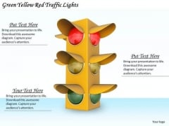 Stock Photo Business Plan Strategy Green Yellow Red Traffic Lights Stock Photos
