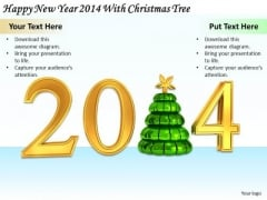 Stock Photo Business Plan Strategy Happy New Year 2014 With Christmas Tree Stock Photos