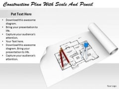 Stock Photo Business Planning Strategy Construction With Scale And Pencil Pictures Images