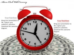 Stock Photo Business Policy And Strategy Alarm Clock With Currency Stock Photo Clipart