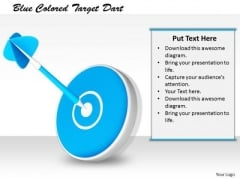 Stock Photo Business Policy And Strategy Blue Colored Target Dart Stock Images