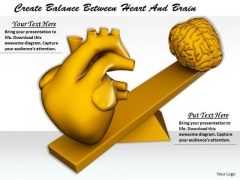 Stock Photo Business Policy And Strategy Create Balance Between Heart Brain Best