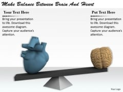 Stock Photo Business Process Strategy Make Balance Between Brain And Heart Image