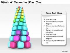 Stock Photo Business Process Strategy Make Decorative Pine Tree Image
