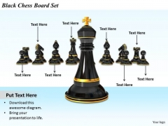Stock Photo Business Strategy And Policy Black Chess Board Set Pictures Images