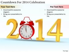 Stock Photo Business Strategy And Policy Countdown For 2014 Celebration Stock Images
