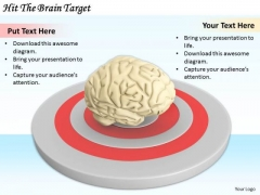 Stock Photo Business Strategy Concepts Hit The Brain Target Stock Photo Pictures