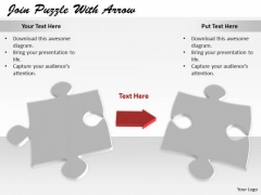 Stock Photo Business Strategy Concepts Join Puzzle With Arrow Icons