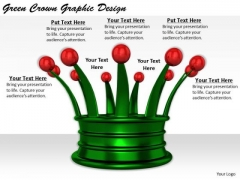Stock Photo Business Strategy Consultant Green Crown Graphic Design Pictures