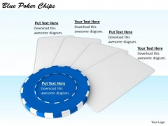 Stock Photo Business Strategy Consultants Blue Poker Chips Stock Photo Images Photos