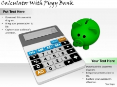Stock Photo Business Strategy Consulting Calculator With Piggy Bank Photos