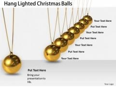 Stock Photo Business Strategy Development Hang Lighted Christmas Balls Best