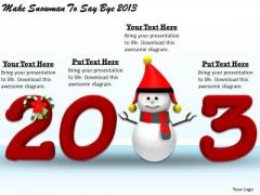 Stock Photo Business Strategy Development Make Snowman To Say Bye 2013 Photos
