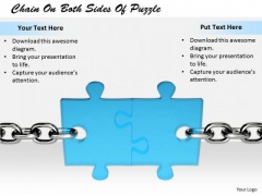 Stock Photo Business Strategy Examples Chain On Both Sides Of Puzzle Images And Graphics