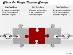 Stock Photo Business Strategy Examples Chain On Puzzle Concept Images And Graphics