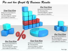 Stock Photo Business Strategy Examples Pie And Bar Graph Of Results Images