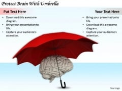 Stock Photo Business Strategy Examples Protect Brain With Umbrella Stock Photo Best Photos