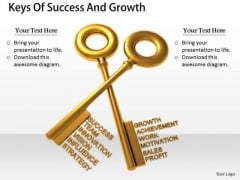 Stock Photo Business Strategy Execution Keys Of Success And Growth Clipart