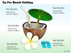 Stock Photo Business Strategy Go For Beach Holiday Image