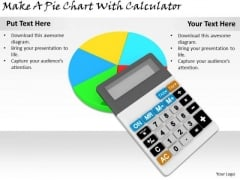 Stock Photo Business Strategy Implementation Make Pie Chart With Calculator Photos