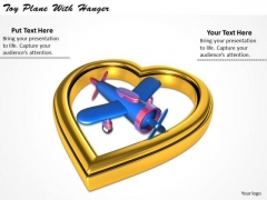 Stock Photo Business Strategy Implementation Toy Plane With Hanger Clipart