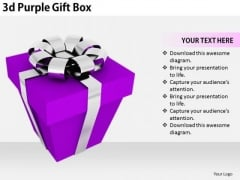 Stock Photo Business Strategy Innovation 3d Purple Gift Box Stock Photo Images