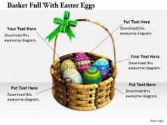 Stock Photo Business Strategy Innovation Basket Full With Easter Eggs Stock Photos