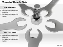 Stock Photo Business Strategy Innovation Screw And Wrenches Tools Success Images