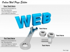 Stock Photo Business Strategy Online Web Page Editor Pictures