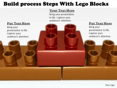 Stock Photo Business Strategy Plan Build Process Steps With Lego Blocks Success Images
